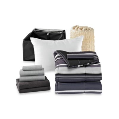 Get Started Sebastian 10-Piece Dorm Room Bedding Kit