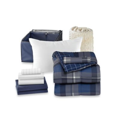 Get Started Chase 10-Piece Dorm Room Bedding Kit