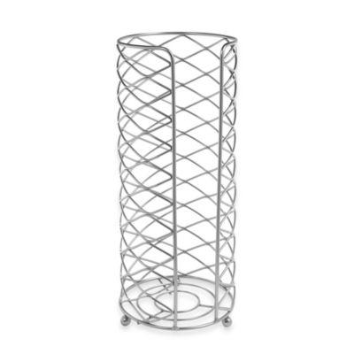 Open Toilet Tissue Cylinder in Satin Nickel