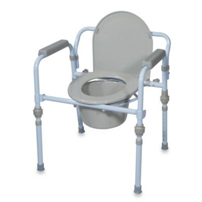 Drive Medical Steel Portable Folding Commode