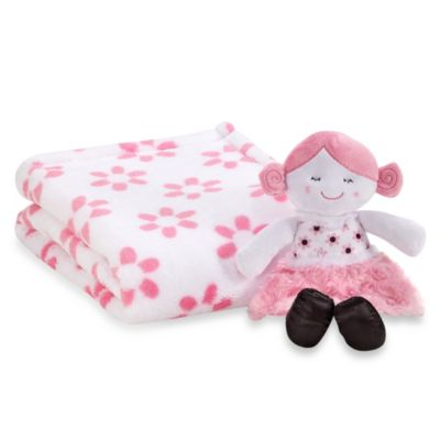 Cutie Pie® 2-Piece Blanket with Doll Set in Flower