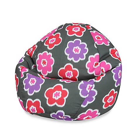 Junior Ikat Blossom Lavendar Pink Bean Bag Cover