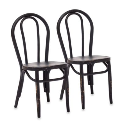 Zuo Era Nob Hill Chair in Black (Set of 2)