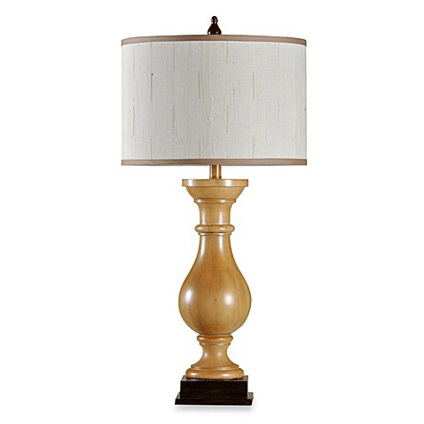 Bombay® Toffee and Walnut Ridge Baluster Table Lamp