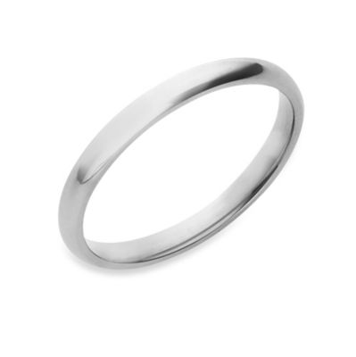 Sterling Silver Women's 2MM Comfort Feel Wedding Ring