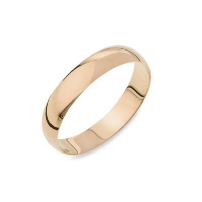 14K Yellow Gold 4MM Plain Men's Wedding Ring