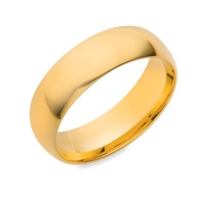 10K Yellow Gold 6MM Comfort Feel Men's Wedding Ring