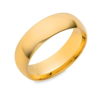 14K Yellow Gold 6MM Comfort Feel Men's Wedding Ring