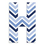 Stupell Industries Tri-Blue Chevron 18-Inch Hanging Letter
