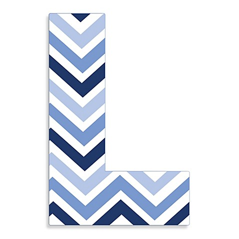 Buy Stupell Industries Tri Blue Chevron 18 Inch Hanging
