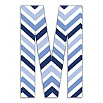 Stupell Industries 18-Inch Tri-Blue Chevron Hanging Letter