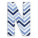 Stupell Industries Tri-Blue Chevron 18-Inch Hanging Letter in