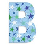 Stupell Industries Blue Distressed Stars 18-Inch Hanging Letter in