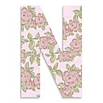 Pink Roses On Pink Background Hanging Letter