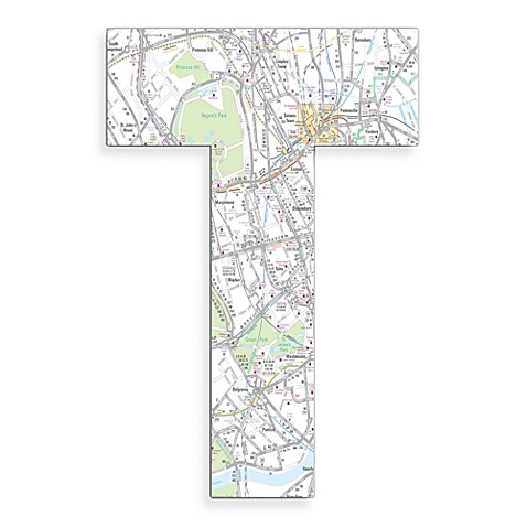 Stupell Industries London Map 18-Inch Hanging Letter in