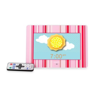 ZAZOO KiDS™ Photo Clock in Pink Stripes