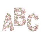Pink Roses On Pink Background Hanging Letters