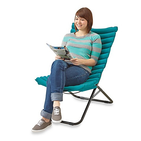 Idea Nuova Ribbed Foam Lounger Chair - Turquoise