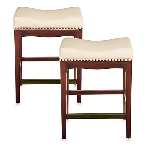 Bombay 174 Griffin 24 Inch Counter Stools In Ivory Set Of 2