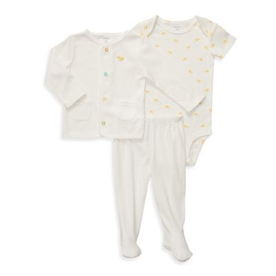Carter's® Ivory Duck 3-Piece Cardigan Set