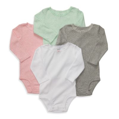 Carter's® Pastel 4-Pack Long-Sleeve Bodysuits