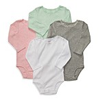 Carter's® 4-Pack Long-Sleeve Bodysuits in Pastel