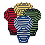 Carter's® Striped Long-Sleeve 4-Pack Bodysuits