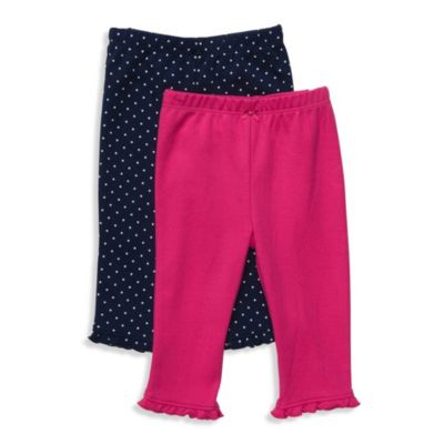 Carter's® Pink and Navy Dot 2-Pack Pants