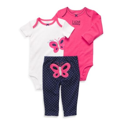 Carter's® Butterfly 3-Piece Pant Set