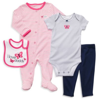 Carter's® Butterfly 4-Piece Layette Outfit Set