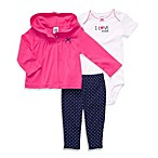 Carter's® Pink Daddy 3-Piece Hooded Cardigan Set
