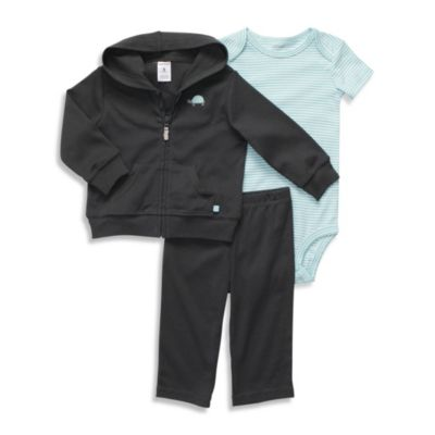 Carter's® Gray Turtle 3-Piece Hooded Cardigan Set