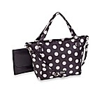 Baby Sac Signature Jayne Black with White Polka Dot Large Diaper Bag