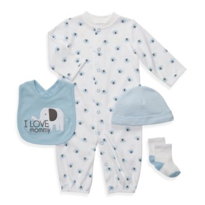 Carter's® 4-Piece Blue Convertible Preemie Layette Set