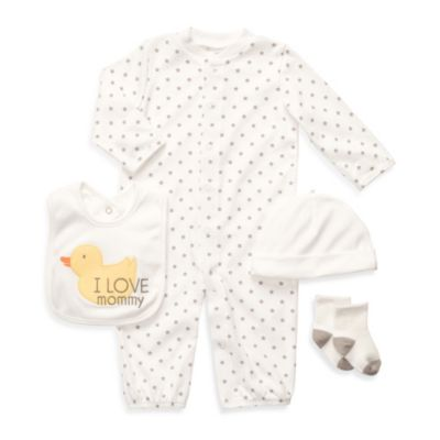 Carter's® 4-Piece Ivory Convertible Little Layette Set - Newborn