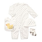 Carter's® 3M Convertible 4-Piece Layette Set in White