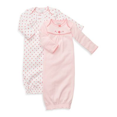 Carter's® 2-Pack Pink and Coral Sleeper Gowns - Newborn
