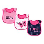 Carter's® Navy & Bright Pink 3-Pack Teething Bibs