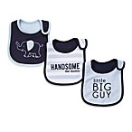 Carter's® Navy Blue 3-Pack Teething Bibs