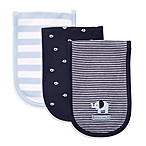 Carter's® Navy Blue 3-Pack Burp Cloths