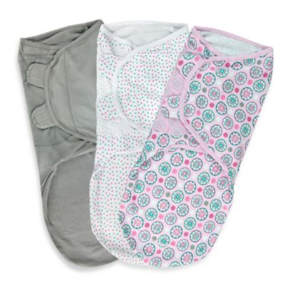 SwaddleMe® Large 3-Pack Adjustable Blankets in Geo Floral