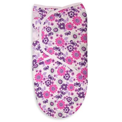 SwaddleMe® Large Cotton Swaddle in Floral Flutter