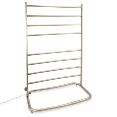 Jerdon Hyde Park Freestanding Towel Warmer with Eight Bars in Brushed Nickel