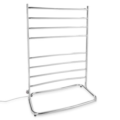 Jerdon Hyde Park Freestanding Towel Warmer with Eight Bars in Chrome