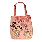 Rosanna Canvas Book Tote in Paris