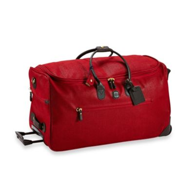 Bric's MyLife 28-Inch Carry-On Rolling Duffle in Scarlet