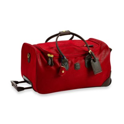 Bric's MyLife 21-Inch Carry-On Rolling Duffel in Scarlet