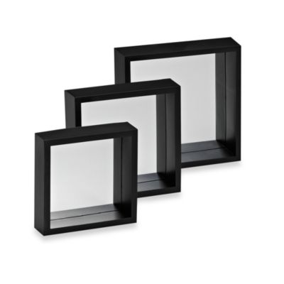 Decorative Square Wall Mirror (Set of 3)