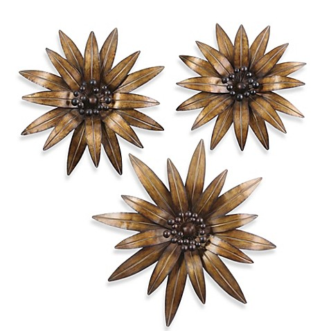 Uttermost Gazania 3-Piece Metal Wall Décor