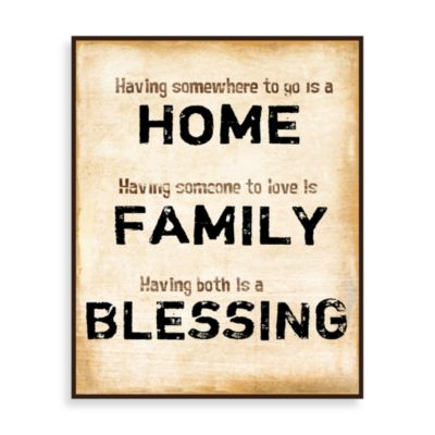 Home Family Blessings Wall Art